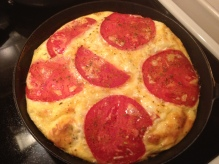 potatoes, frittata, eggs, breakfast, brunch, tomatoes, cheese, recipe, homemade