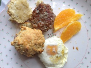 shirred eggs, breakfast, brunch, eggs, biscuits