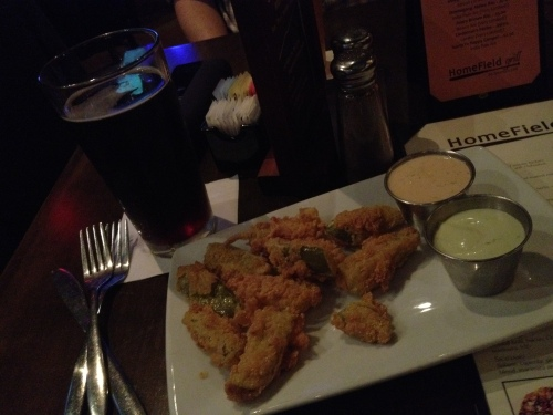 homefield grill, bar, fried pickles, round rock, texas, austin, nolan ryan, shiner bock