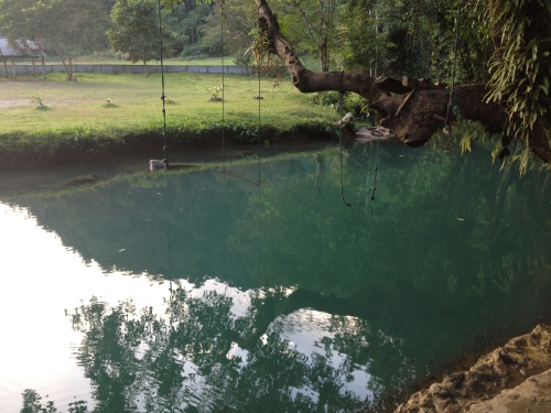 laos, vang vieng, blue lagoon, travel