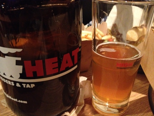 high heat burger, nyc, west village, flower power IPA, draught beer
