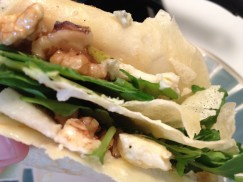 crepes, recipes, walnut, pear, bleu cheese, arugula, lunch