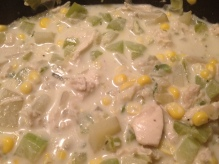 chicken corn chowder, winter meal, cold weather, recipe, soup, chowder