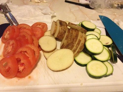 Vegetable Tian, Veggie recipes, vegetarian recipes, tomatoes, zucchini, potato